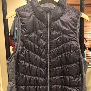 Women's Gray Puffer Vest